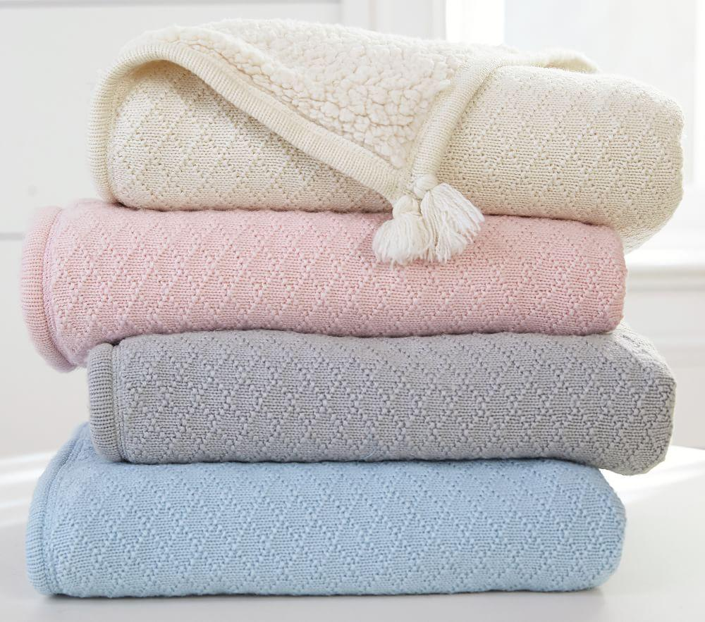 Luxe Knit Sherpa Baby Blanket Pottery Barn Kids Uk