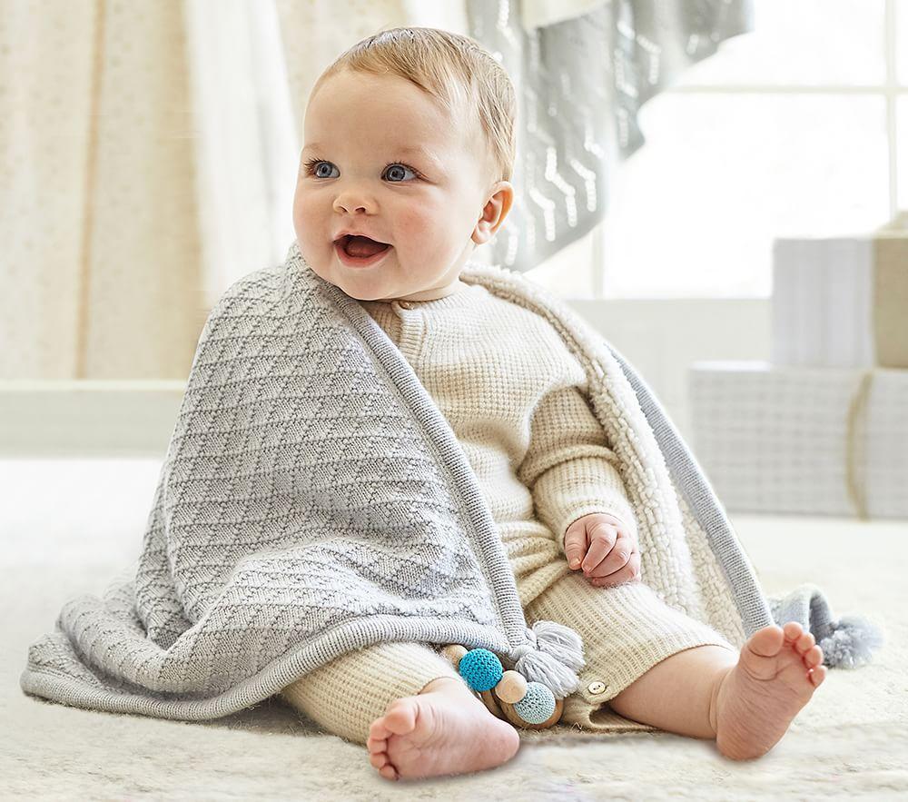 Luxe Knit Sherpa Baby Blanket Pottery Barn Kids Uk