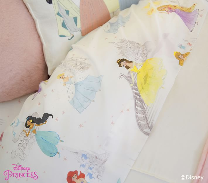 Disney Organic Princess Castle Sheet Set Pottery Barn