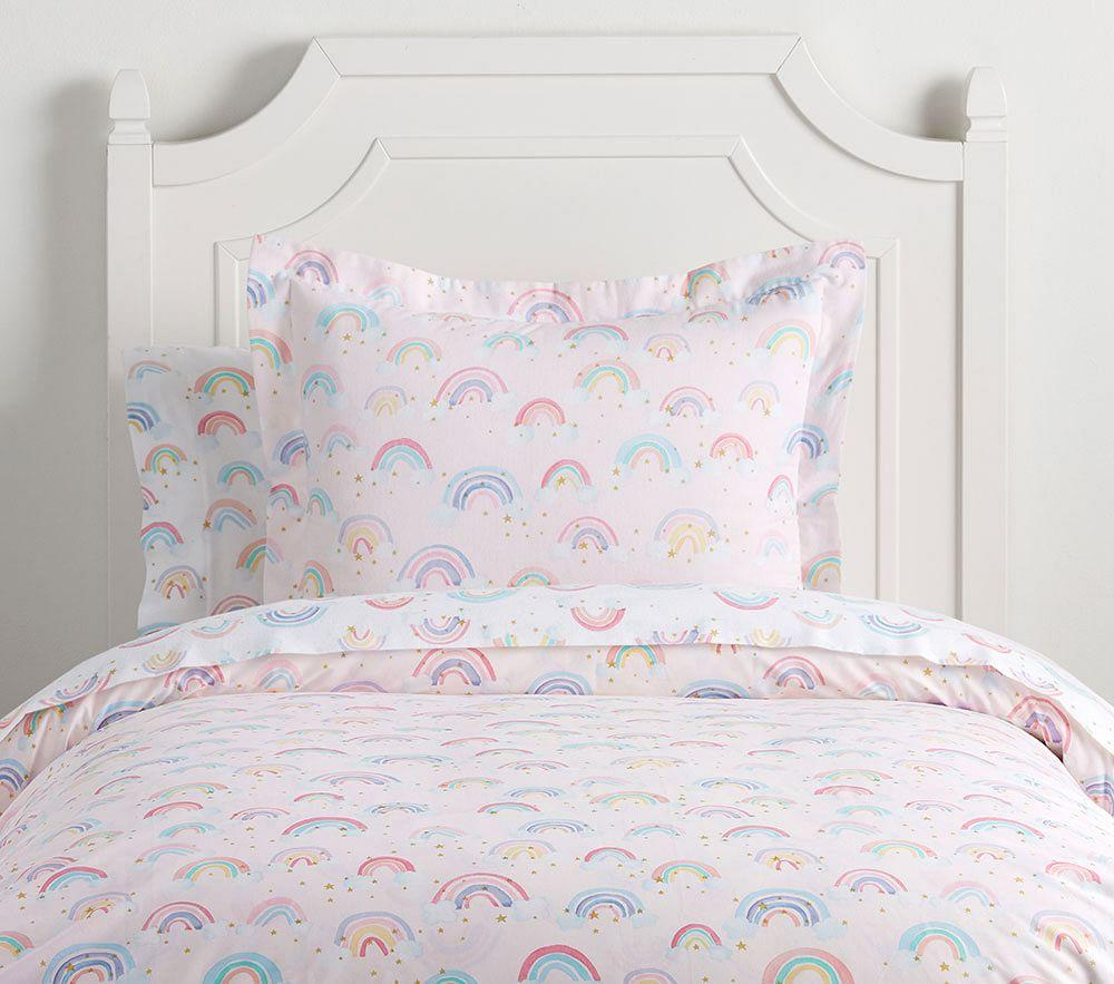 Organic Rainbow Cloud Duvet Cover Pottery Barn Kids Uk