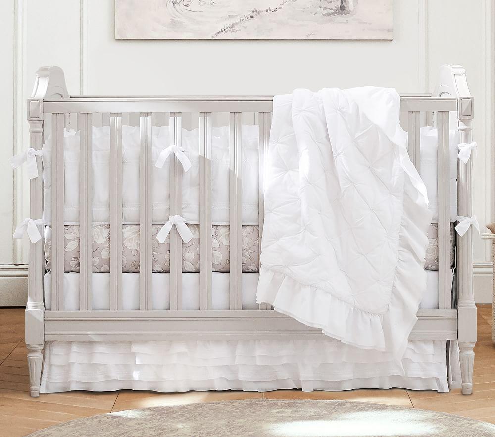 Organic Sadie Ruffle Baby Bed Linen   pottery barn kids UK