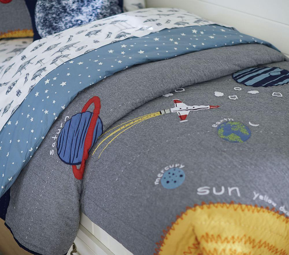 Outer Space Bedspread Pottery Barn Kids Uk